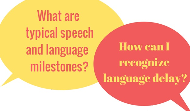 What are typical speech and language milestones?